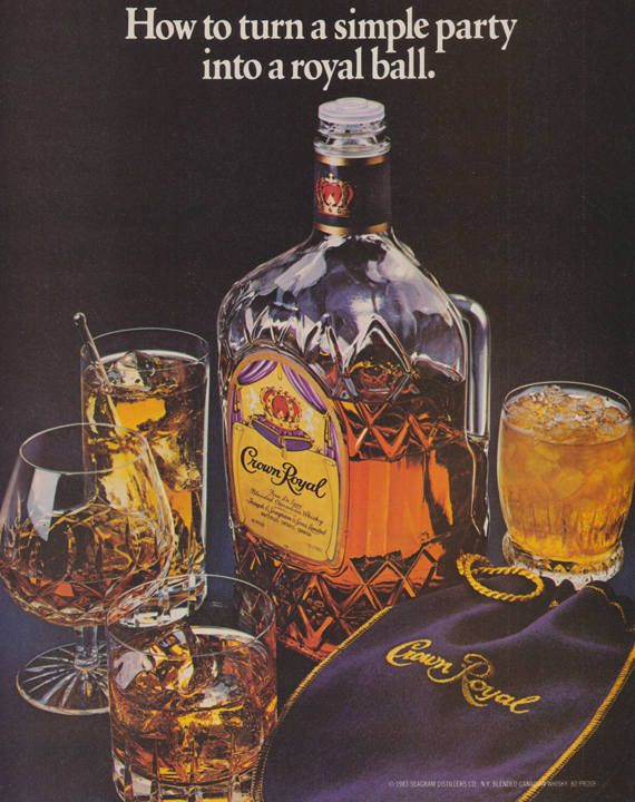 Vintage crown royal whiskey