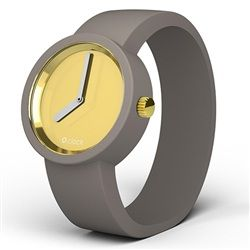 O clock watch - Gold face with Mountain Grey strap