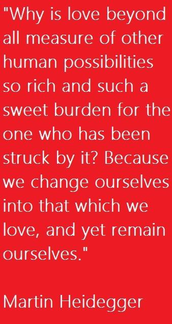 Philosopher Martin Heidegger #quote on love.