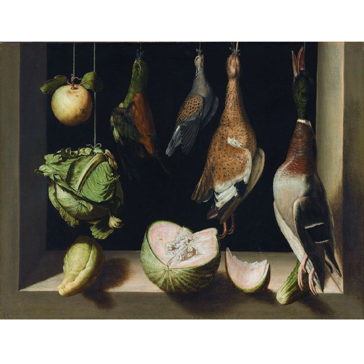 Juan Sánchez Cotán • Still Life with Game Fowl, 1600-03