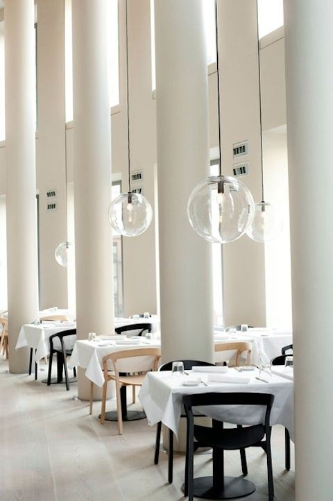 interior of the cafe-restaurant TABLE at the Schirn Kunsthalle art gallery in Frankfurt