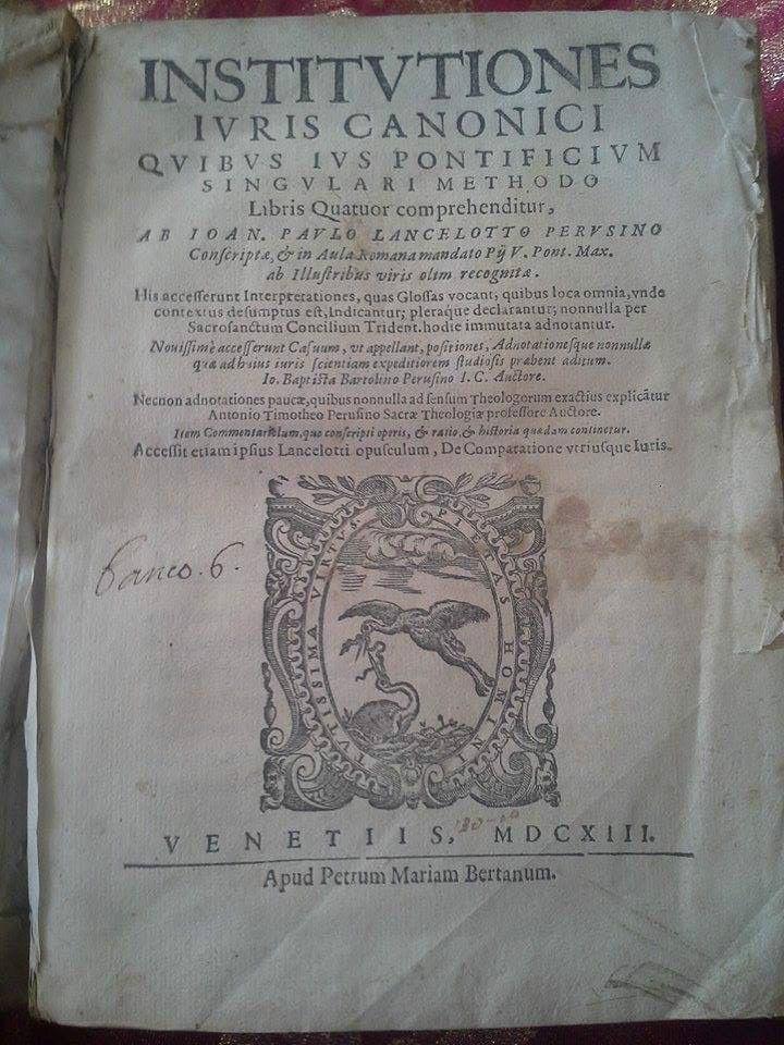INSTITUTIONES IURIS CANONICI 1613