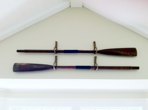 Hanging Oars With Rope Nautical Decor Pinterest