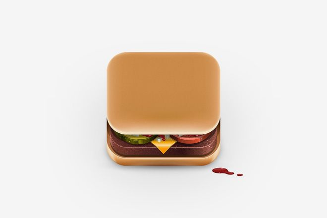 HUH. - Food iPhone App Icons
