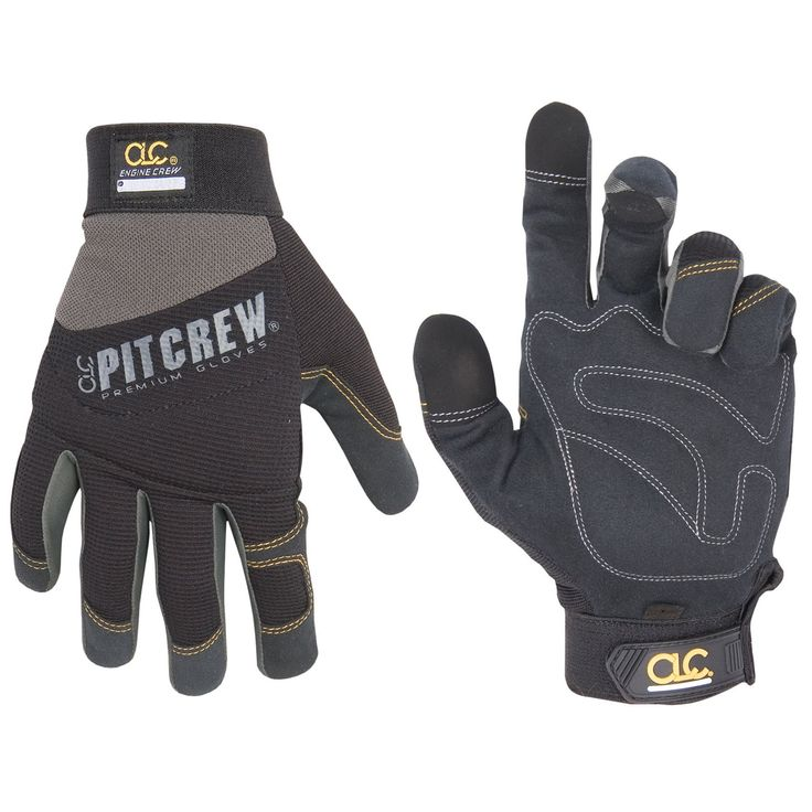 CLC Work Gear 205BM Medium Black and Gray Engine Crew Mechanics Gloves - 2370-7706