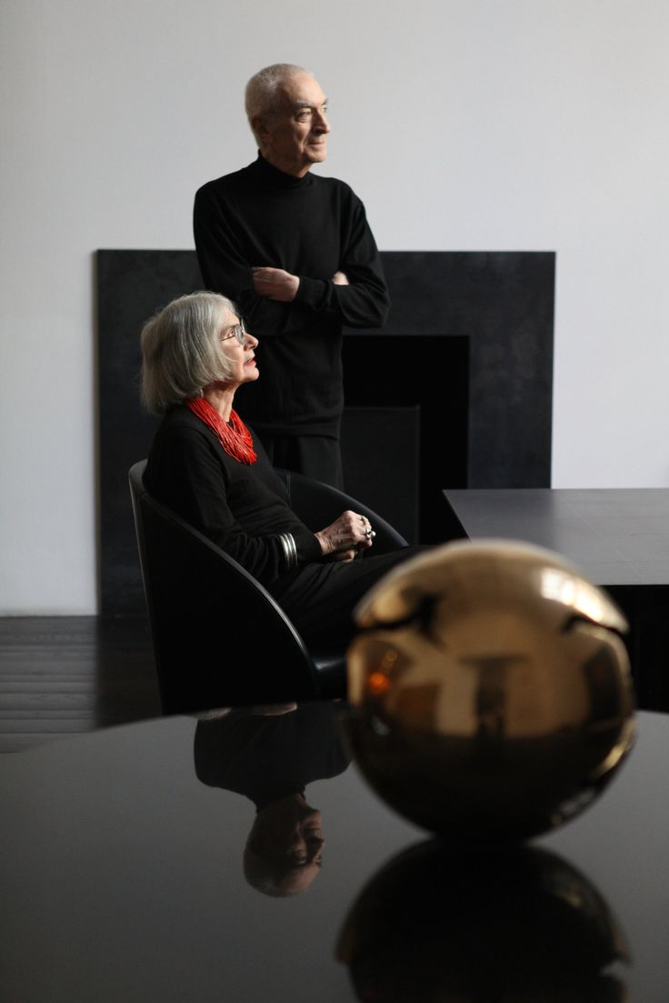 Massimo Vignelli and his wife Lella, in their Upper Eastside home. Mrs. Vignelli…
