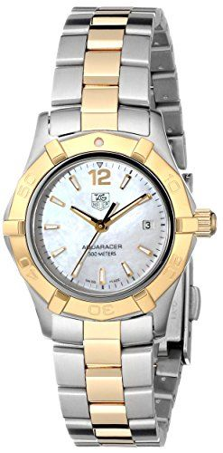 """TAG Heuer Women's WAF1424.BB0825 """"Aquaracer"""" Stainless Steel and 18k Gold Watch TAG Heuer http://www.amazon.com/dp/B002YK8N5S/ref=cm_sw_r_pi_dp_I8LEub1D12RX9"""