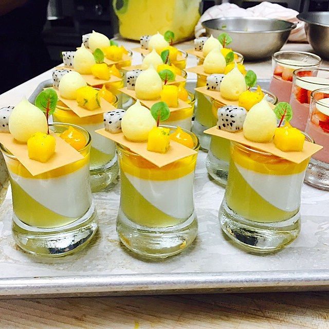 Coconut , lime and mango verrines at @stregisbalharbour #bachour #bachoursimplybeautiful