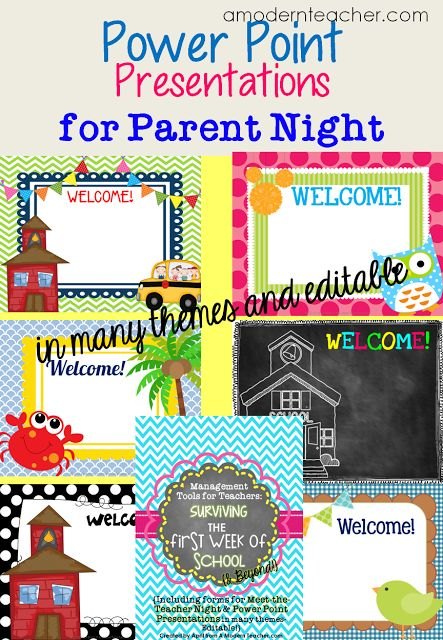 Meet the Teacher Night... PPT to display