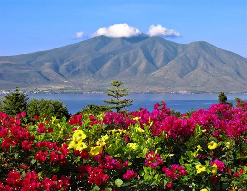 "A photo of Lake Chapala of Ajijic, Mexico. This setting was the initial source of inspiration for my children's book, ""A Tail of Two Burros."" Lake Chapala is the jewel of Ajijic!"