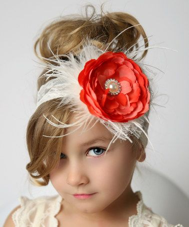 Another great find on #zulily! Coral Cupcake Pearl Rosette Lace Headband by Lollies and Lace Boutique #zulilyfinds