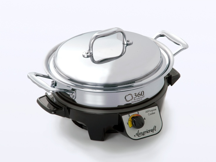 2.3 Quart Stainless Steel Stock Pot with Cover / Gourmet Cooker - Made in USA!