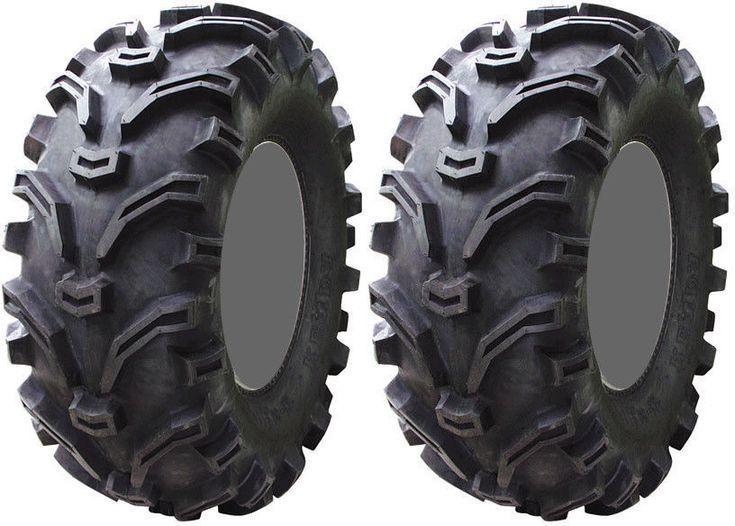 Pair 2 Kenda Bearclaw 25x10-12 ATV Tire Set 25x10x12 K299 25-10-12