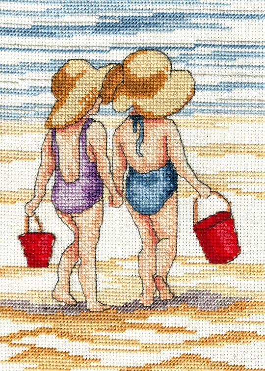 I do like to be beside the seaside | Cross Stitching