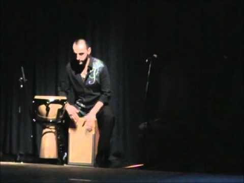 Marcelo Montero Araya/Solo Cajon Flamenco Auditorio Teatro Telefonica.wmv