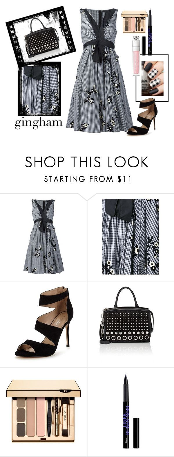 """Gingham Mono"" by kelly-floramoon-legg ❤ liked on Polyvore featuring Marc Jacobs, Carvela, Alexander Wang and gingham"