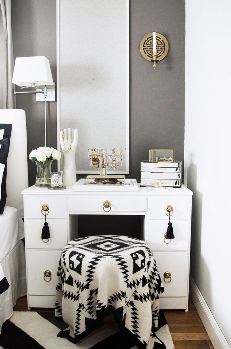 An Interior Stylist s Glam Midwest Remodel Best 25  Black vanity table ideas on Pinterest makeup