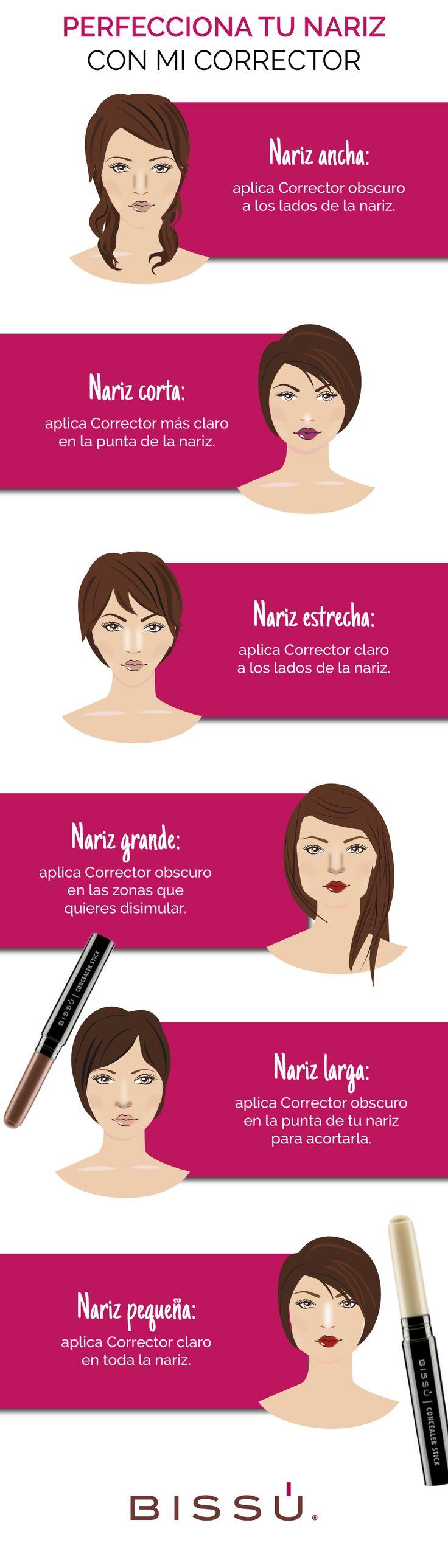 Corrige la forma de tu nariz con ayuda de esta guía.