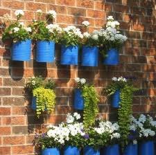 Esta es una idea reciclando latas de chiles, pueden ser medianas o grandes todo depende de tu espacio y el tipo de planta!