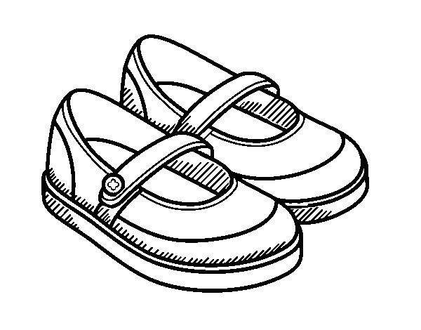 Dibujos De Zapatos Para Colorear Con Imagenes Zapatos Dibujos