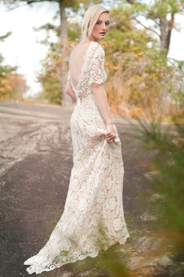 "Lace Wedding Dress as found at Malindy Elene Bridal, Ivy and Aster ""Posey"" Wedding Dress"