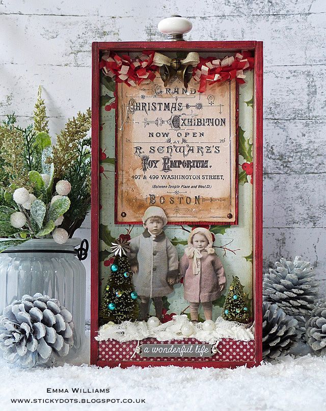 Grand Christmas Exhibition created by Emma Williams for the Tim Holtz Holiday Inspiration Series 2017