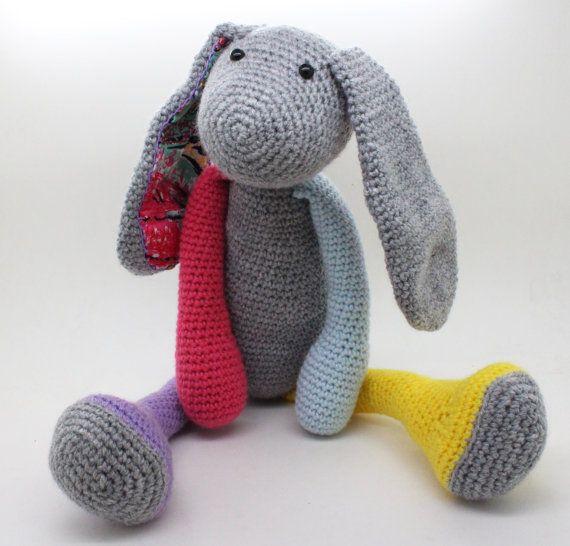 Cute Amigurumi Rabbit with long ears.