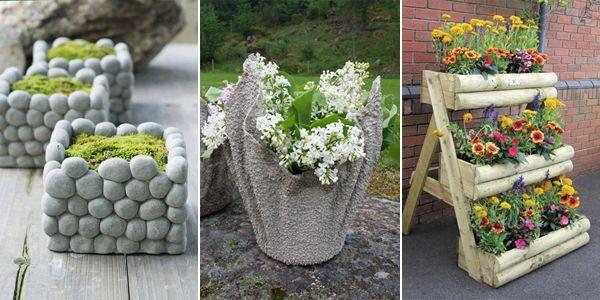 W Dzisiejszym Poscie Przedstawie Wam 15 Ciekawych Pomyslow Na Diy Doniczki Do Ogrodu Mozemy Wykonac Je Z Prze Outdoor Decor Flower Pots Outdoor Furniture Sets