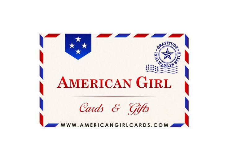 Create a vibrant logo to represent online greeting card and gift store - American Girl Cards