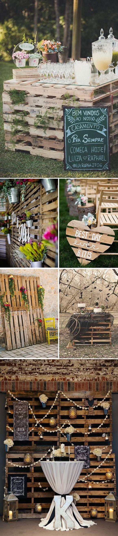 Decoracion de bodas con pallets