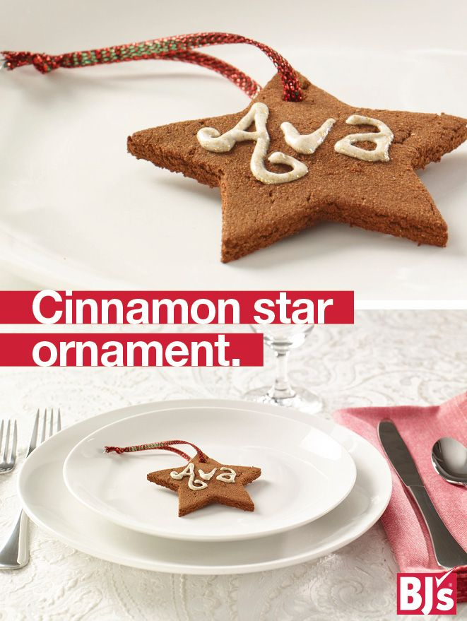 Homemade Holiday Ornaments - Cinnamon ornament recipe. Make scented Christmas keepsake ornaments with this easy step-by-step craft project. http://stocked.bjs.com/content/cinnamon-star-keepsake-ornament-non-edible