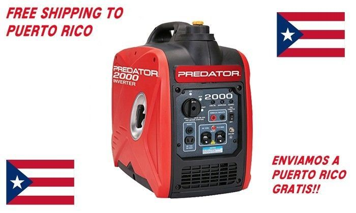 Predator 2000 Watt Generator Inverter Super Quiet Free Shipping to Puerto RicoÂ