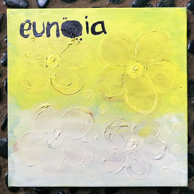 Eunoia  (n.) beautiful thinking, a well mind  20x20cm acrylic on canvas by Ehses - Sessa Xuanthi