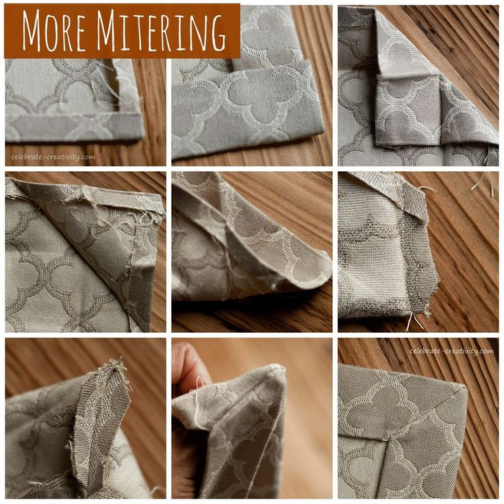 Mitering Fabric <br> How to Get Perfectly Pointy Inside Corners
