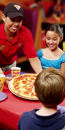Residents enjoy a FREE personal pan pizza at Peter Piper Pizza EVERY Wednesday!