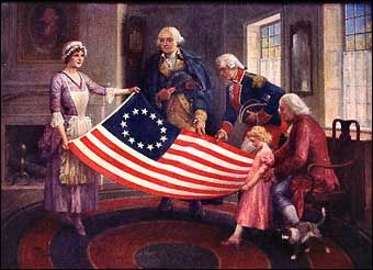resenting ur flag with 13 Colonies