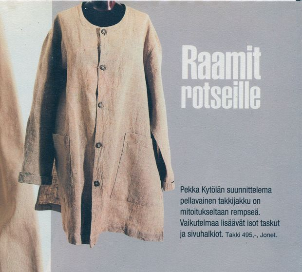 Pellavatakki, linen jacket for Jonet