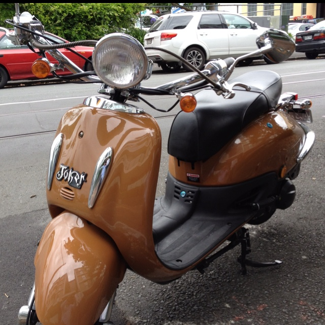Joker? A great retro scooter I came across in Auckland