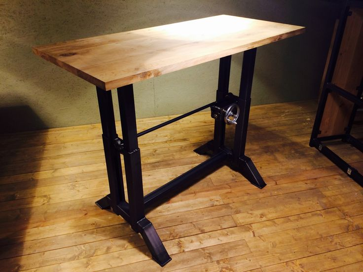 New Oak uSteel Tafels In hoogte verstelbare tafel
