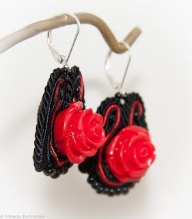 Soutache earrings.