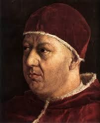 Pope Leo X : The Son of Lorenzo de Medici. He Followed the reign of Julius II, ascending to the throne in 1513.  Pope Leo X continued the work begun during Julius II's pontificate, rebuilding all of Rome, and most specifically, St. Peter's basilica. His one grave error was to authorize the sale of indulgences to finance this project, an action which prompted the beginning of the Reformation movement.
