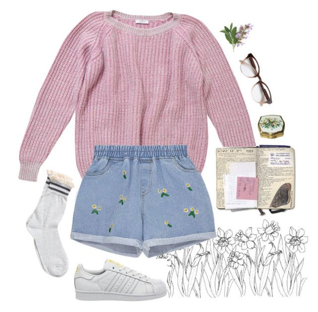 """""""floral"""" by paper-freckles ❤ liked on Polyvore featuring Leetha, adidas, STELLA McCARTNEY, Retrò and Pieces"""