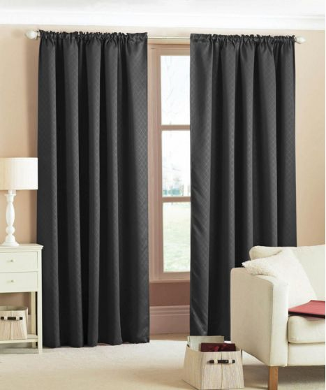 Green Curtains black and green curtains : 17 Best ideas about Black Pencil Pleat Curtains on Pinterest ...
