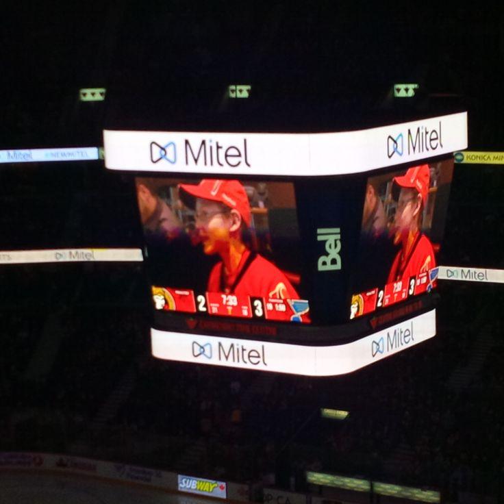 #Mitel logos at centre ice and along the sides  lines at Canadian Tire Centre.  Ottawa Sens vs. St. Louis Blues.  Saturday Nov. 22/2014.  #GoSensGo #GoMitelGo #TeamMitel