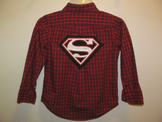 Upcycled Superman Dress Shirt Chaps size 5 by EncorePresentations