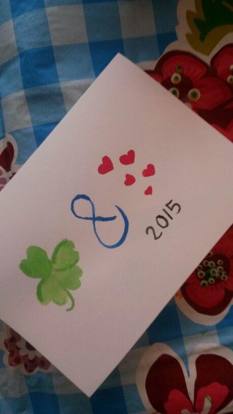 #watdoetvanessanu zelfgemaakt diy knutselen tekenen kerst kerstkaarten zelfmaken verf diy Christmas wishes geluk en liefde watdoetvanessanu