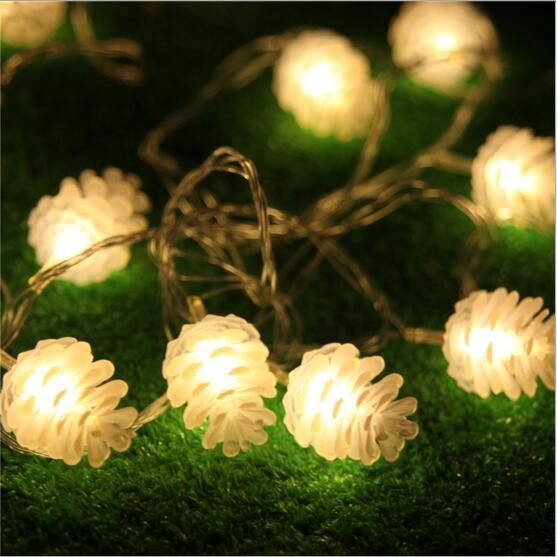 IWHD 10M Garland LED Christmas Lights LED New Year Pine Nuts