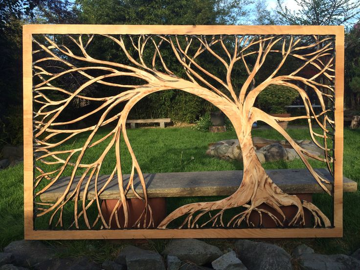 4'x6' wood tree carving Plywood Jayscraft@gmail.com For sale at Minor Details Tacoma, Wa.