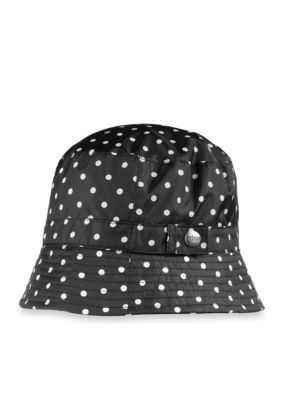 Totes Women's Bucket Rain Hat - Black - One Size