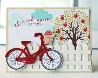 Thank You Teacher Bike Card by Betsy Veldman for Papertrey Ink (May 2013)